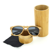 2018 Newest OEM zebra wood Wooden and Bamboo Sunglasses with Polarized lens