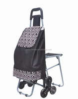 2015 New design Folding Shopping trolley Cart, foldable vegetable shopping trolley bag