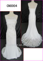 2014 customized guangzhou new arrival beading lace sheer column wedding dresses with corset back/floor length CN0004