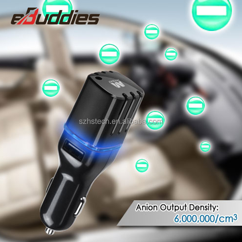 Portable Car Air Purifier Ionizer for removing cigarettes Smoke smell and gas for in- car use