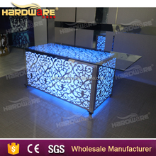 led bar small metal dining table with wheels
