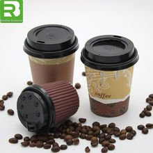 4oz 8oz 12oz 16oz insulated ribbled double wall hot coffee tea disposable paper cups