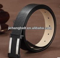 Real Leather Belt With Interlocking Belt Buckle