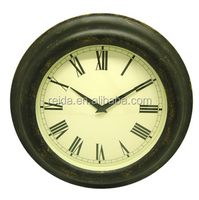 Antique Finish Wall Clock Brown