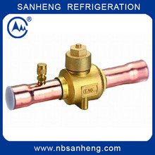 (SH-17402)Refrigeration Brass Ball Valves with Charging Port