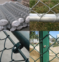 Hot sale Chain Link Fence / PVC / galvanized diamond wire mesh