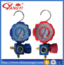 refrigerant manifold pressure gauge single gauge apply for R410A R22 R134a R407C with sight glass