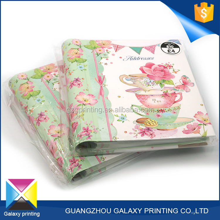 China supplier high quality recycled cardboard spiral notebook with color pages for girl