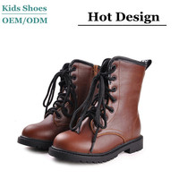 2014 High Quality Latest genuine Leather upper winter knitting half snow boots kids shoes for girl