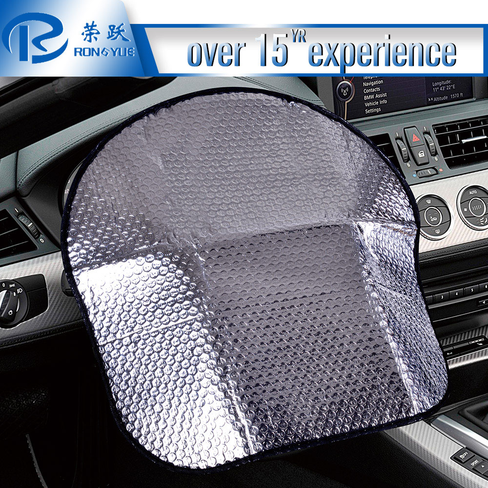 Safe and convenient car Steering Wheel window shade pvc car cover