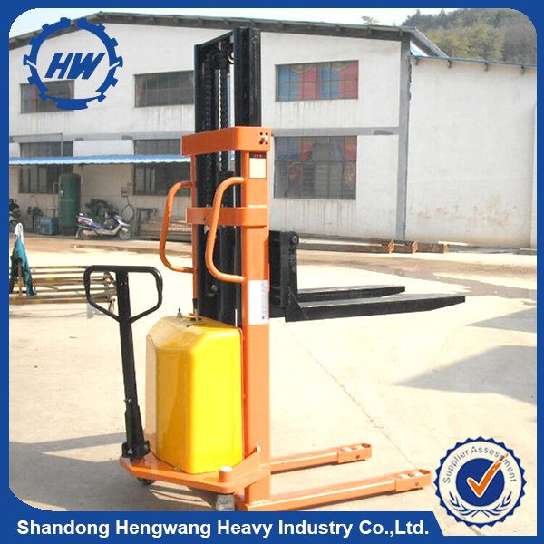 Hot sales manual forklift stacker / mini electric forklift stacker price