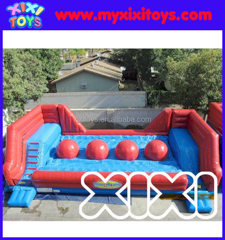 Big baller inflatable wipeout obstacle course,inflatable jumping balloon for sale