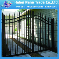hot sale powder coated metal indian house main gate designs / metal fence design