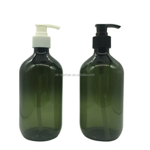 2017 Green / amber / grey 300ml mist pet plastic bottle with trigger pump for hair care
