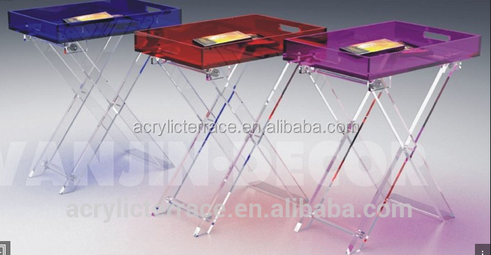 acrylic snack serving table