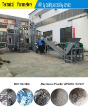 E waste aluminum composite panel plastic separation recycling machine / recycling aluminum machine