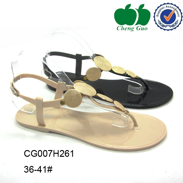 manufacturers of sexy women spring jelly korea sandals 2014
