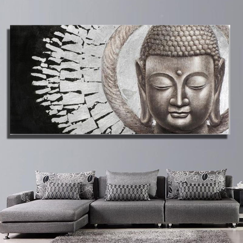 New arrival design Buddha face Oil Painting on Canvas Modern Room Decoration Wall Hangings Canvas Prints wall art