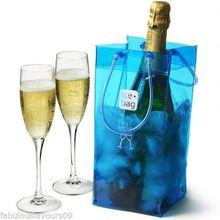 Super Transparent Ice Cubes Plastic PVC Wine Carry Bag