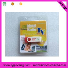 plastic hanging cd usb blister packaging for display&U disk packing