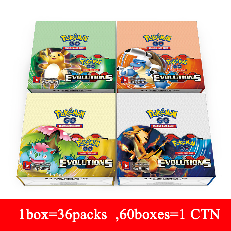 wholesale new 36 packs/box pokemon cards XY pokemon go cards pack