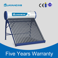 High efficiency rooftop pressured solar water heater with solarkeymark