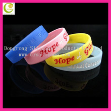 Hot pink butterfly design hollow plastic bracelet silicone rubber bands