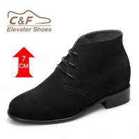 Wholesale handmade new fashion high ankle leather shoes for men elevator shoes
