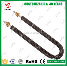 Electrical finned tube duct heater element
