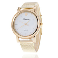 Free Shipping by DHL/FEDEX/SF Men Male Gold Quartz Wrist Watch Fashion Analog Mesh Strap Men'S Bracelet Watches MM025