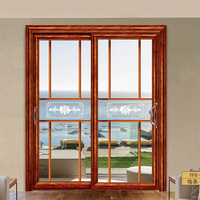 Beautiful rose wood veneer sliding door will grille decoration