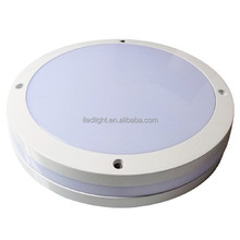 Round IK10 Waterproof IP65 LED Bulkhead Emergency Light Fitting for Exterior Ceiling Lighting