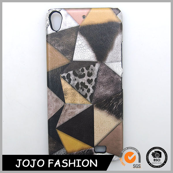 Newest design special snake skin and leopard print pattern PU phone case