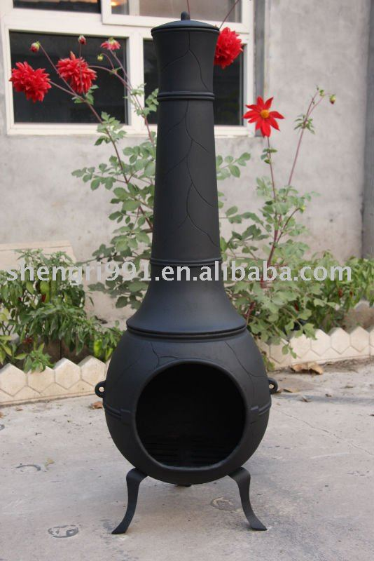 cast iron ball chimenea