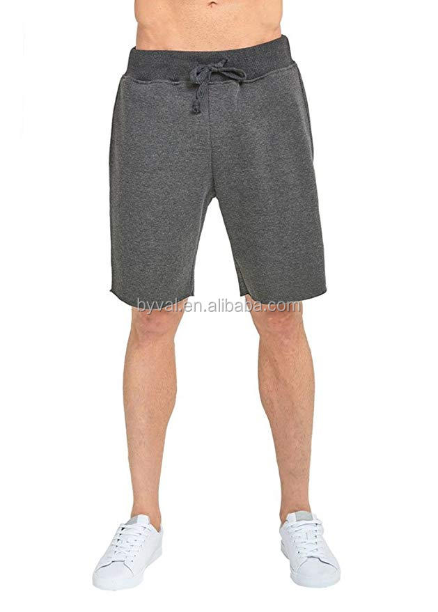 china import custom clothing manufacturers gym wear charcoal medium mens fleece terry fleece shorts
