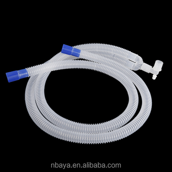 medical supply adult disposable medical anesthesia breathing circuit corrugated tube