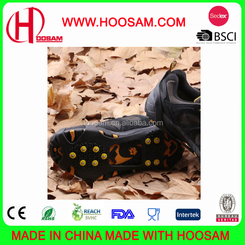 Ice Snow Grip Anti Slip Overshoes Snow Shoes, High quality whole Ice cleats / Ice crampons, ice grippers for shoes /Snow cleats