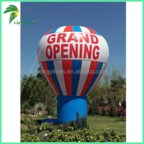 High Quality Custom Made Inflatable Advertising Rooftop Balloon , Inflatable Ground Ball For Advertising With Factory Price