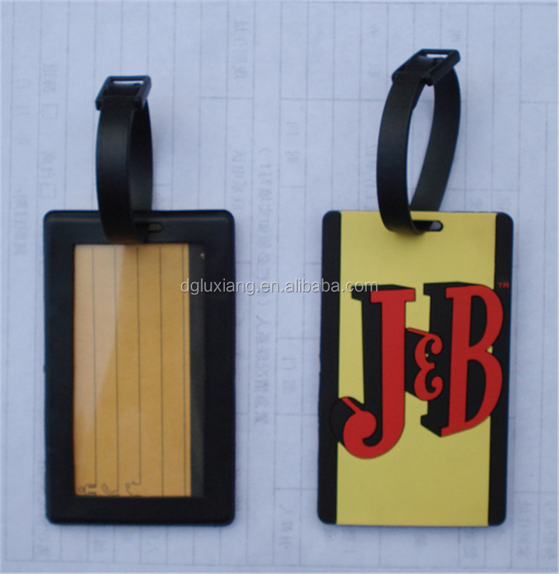 Promotional advertising gift silicone luggage tag