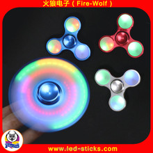 Hand Spinner Finger Toy Super Fast Long Spins LED Growing Aluminum Alloy Best Stress Reducer Spinning Top for EDC ADHD Anxiety