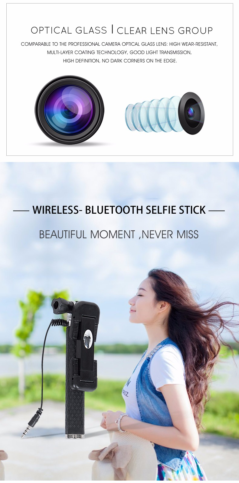 Travel kit for ladies for ip camera wide angle lens
