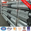 hot sales galvanized metal post steel poles electric poles iron electric pole