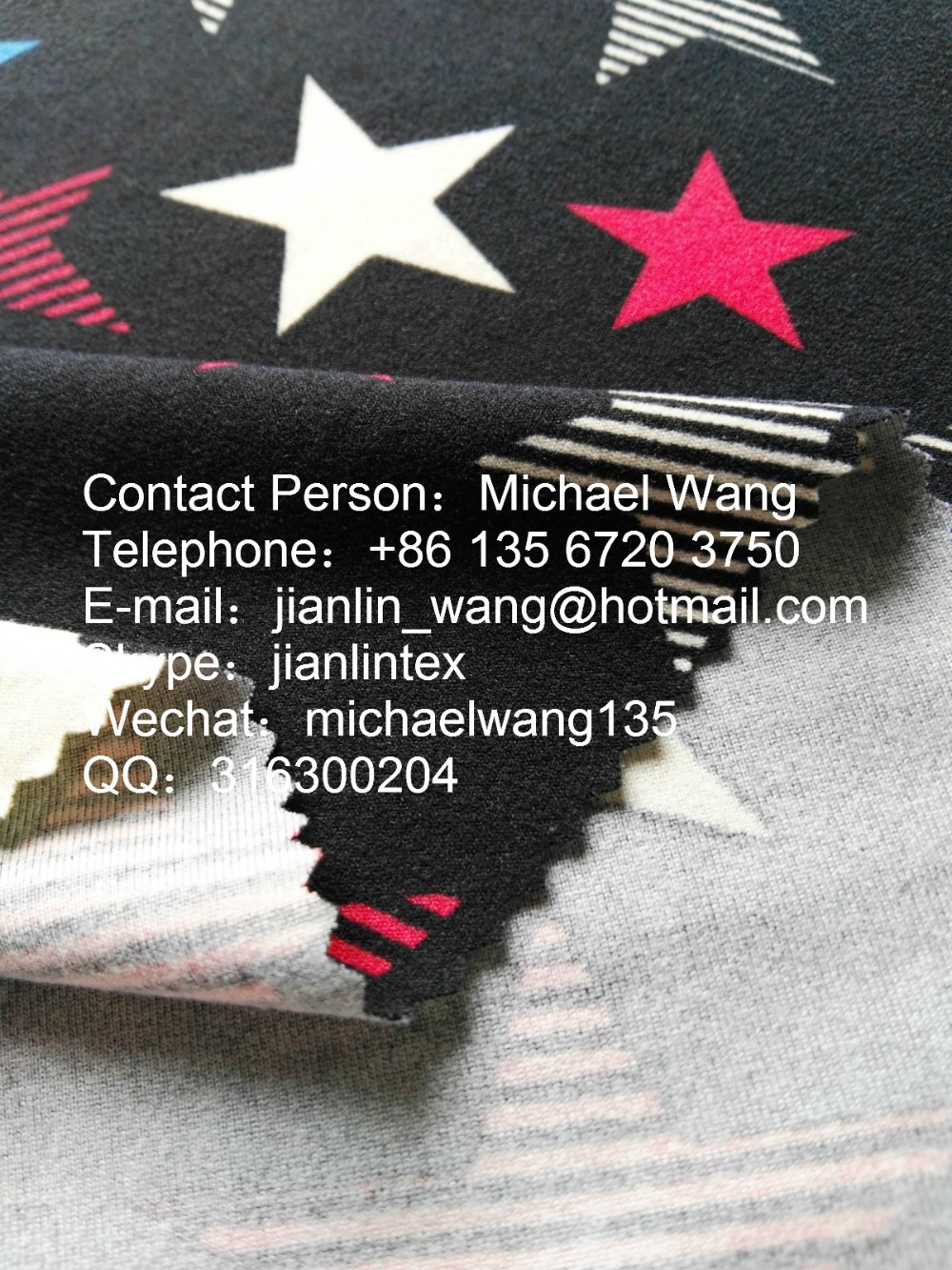 China Textile City Keqiao Textile polyester spandex DTY Print Double Sides Brushed Polyester Fabric