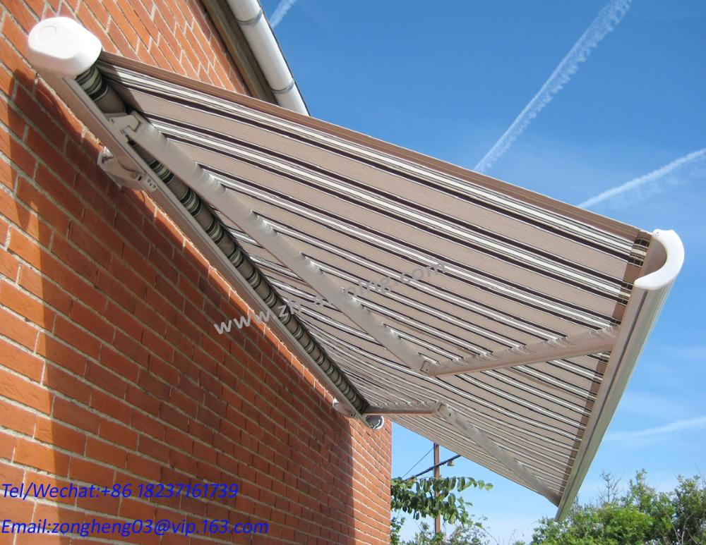 Outdoor patio sunshade motorized aluminum retractable awning with Dooya motor remote control