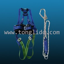 with hook shock absorber/energy absorber Safety Lineman polyester lifeline full body security safety belt harness