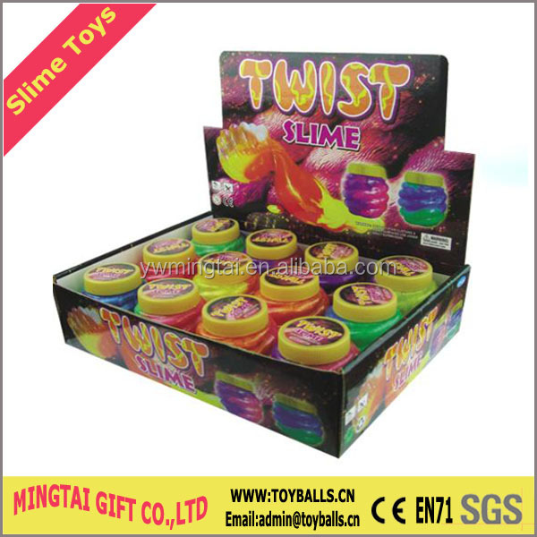 Twist Shape Oozy Slime Toys Changing Color Slimes Barrel slime