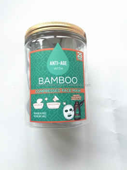 Jelly cellulose compressed facial mask bamboo mask