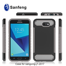 Factory Audit Manufacturer Wholesaling Carbon Fiber Lines Boost Mobile Cell Phone Cases for Galaxy J7 Perx