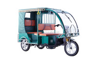 6 seats Open Body Electric Auto Rickshaw For Passenger