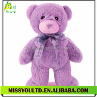 Custom Lavender Teddy Bear Plush Soft Microwaveable Bear